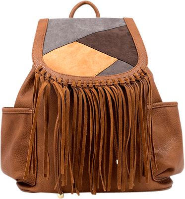 Like Dreams Gloria Backpack Cognac - Like Dreams Manmade Handbags
