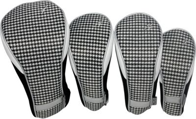 Taboo Fashions 4-Piece Club Cover Set Timeless Noir - Taboo Fashions Golf Bags