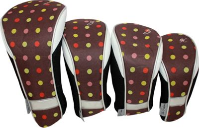 Taboo Fashions 4-Piece Club Cover Set Cocoa Eye Candy - Taboo Fashions Golf Bags