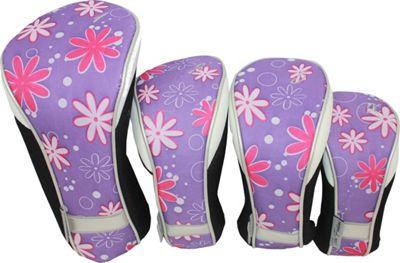 Taboo Fashions 4-Piece Club Cover Set Petal Pusher - Taboo Fashions Golf Bags
