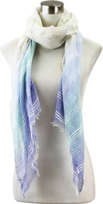 Lava Accessories Gradient Striped Scarf Blue - Lava Accessories Scarves