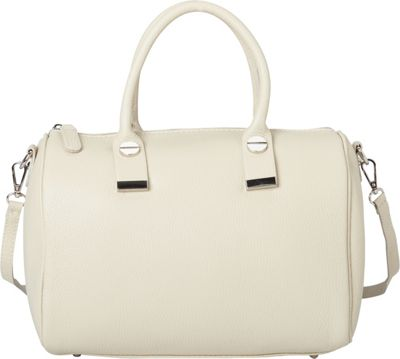Sharo Leather Bags Italian Textured Leather Tote and Shoulder Bag Beige - Sharo Leather Bags Leather Handbags