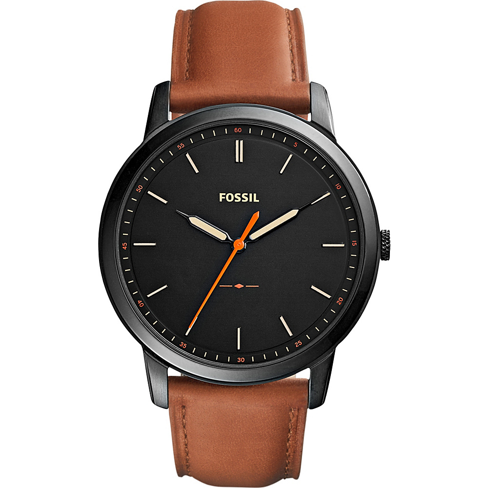 Fossil The Minimalist Three-Hand Watch Brown/Black - Fossil Watches - Fashion Accessories, Watches