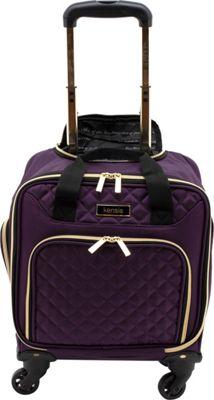 Kensie Luggage 16 inch Multifunction Rolling Spinner Under-Seater Purple - Kensie Luggage Wheeled Business Cases