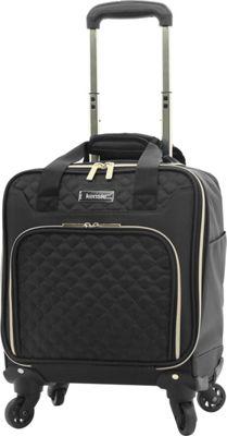 Kensie Luggage 16 inch Multifunction Rolling Spinner Under-Seater Black - Kensie Luggage Wheeled Business Cases