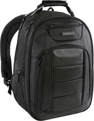 Perry Ellis Business Laptop Backpack with Tablet Compartment Black - Perry Ellis Laptop Backpacks