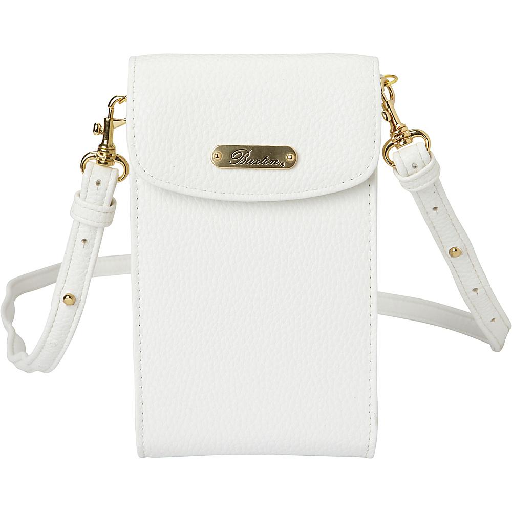 Buxton Pebble Cell Phone Crossbody Snow White - Buxton Manmade Handbags - Handbags, Manmade Handbags