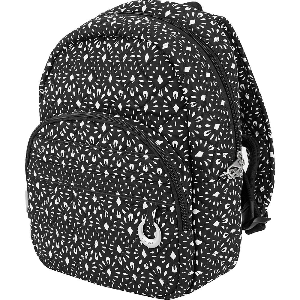 Travelon Anti-Theft Boho Backpack Geo Shell/Plum Interior - Travelon Fabric Handbags - Handbags, Fabric Handbags