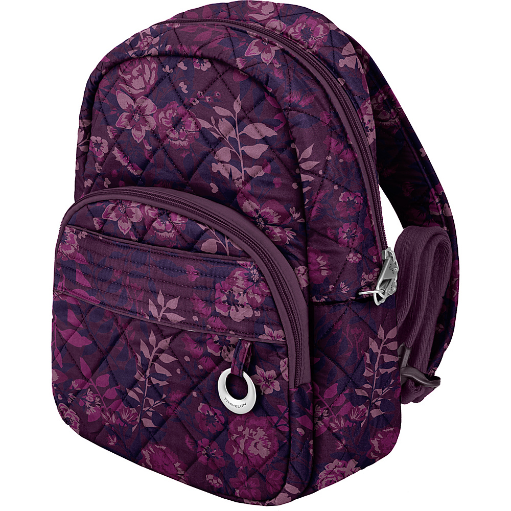 Travelon Anti-Theft Boho Backpack Wine Rose/Fawn Interior - Travelon Leather Handbags - Handbags, Leather Handbags