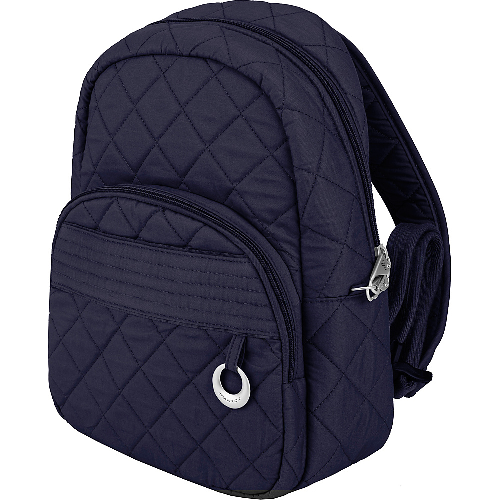 Travelon Anti-Theft Boho Backpack Navy/Leaf Interior - Travelon Leather Handbags - Handbags, Leather Handbags