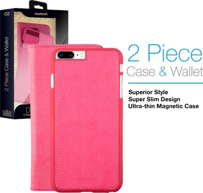 Naztech Allure Magnetic Cover + Wallet for iPhone 7 Plus Pink - Naztech Electronic Cases