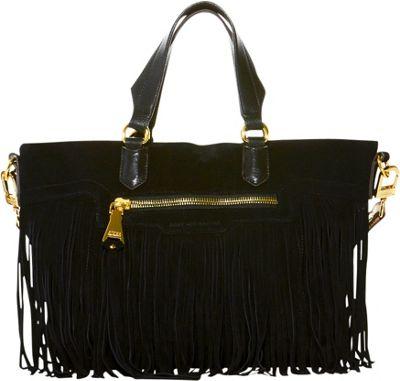 Aimee Kestenberg Handbags Huxley Large Convertible Shoulder Bag Black - Aimee Kestenberg Handbags Leather Handbags