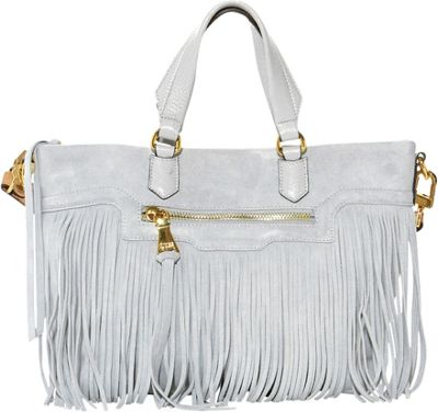 Aimee Kestenberg Handbags Huxley Large Convertible Shoulder Bag Dove Grey - Aimee Kestenberg Handbags Leather Handbags