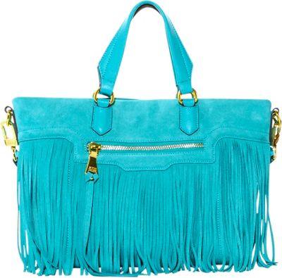 Aimee Kestenberg Handbags Huxley Large Convertible Shoulder Bag Mermaid Aqua - Aimee Kestenberg Handbags Leather Handbags