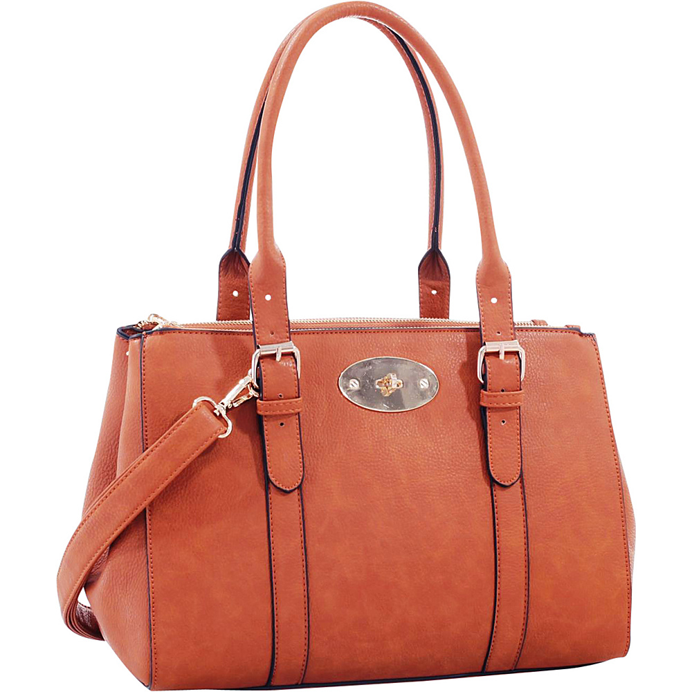 MKF Collection Florence Satchel Brown - MKF Collection Manmade Handbags - Handbags, Manmade Handbags