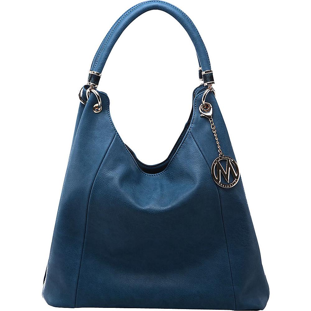 MKF Collection by Mia K. Farrow April Hobo Shoulder Bag Denim - MKF Collection by Mia K. Farrow Manmade Handbags - Handbags, Manmade Handbags