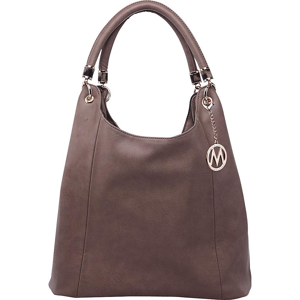 MKF Collection by Mia K. Farrow April Hobo Shoulder Bag Taupe - MKF Collection by Mia K. Farrow Manmade Handbags - Handbags, Manmade Handbags
