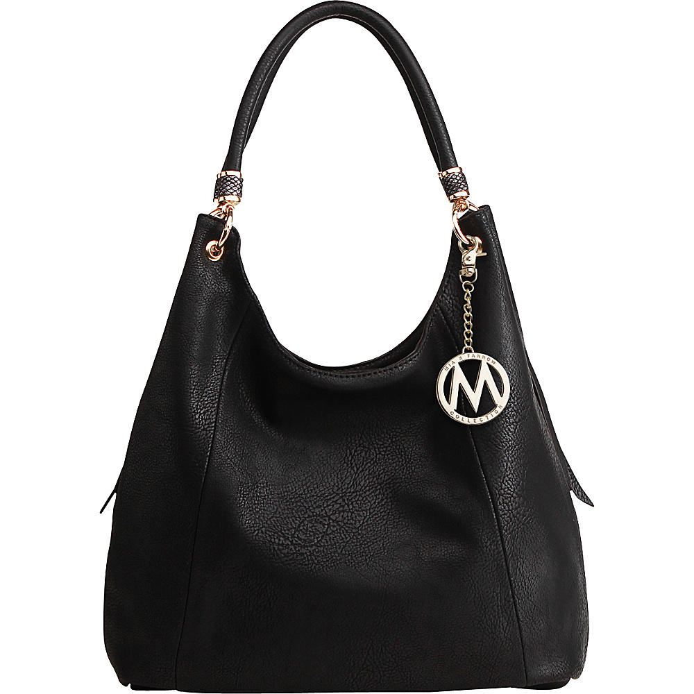 MKF Collection April Hobo Shoulder Bag Black - MKF Collection Manmade Handbags - Handbags, Manmade Handbags