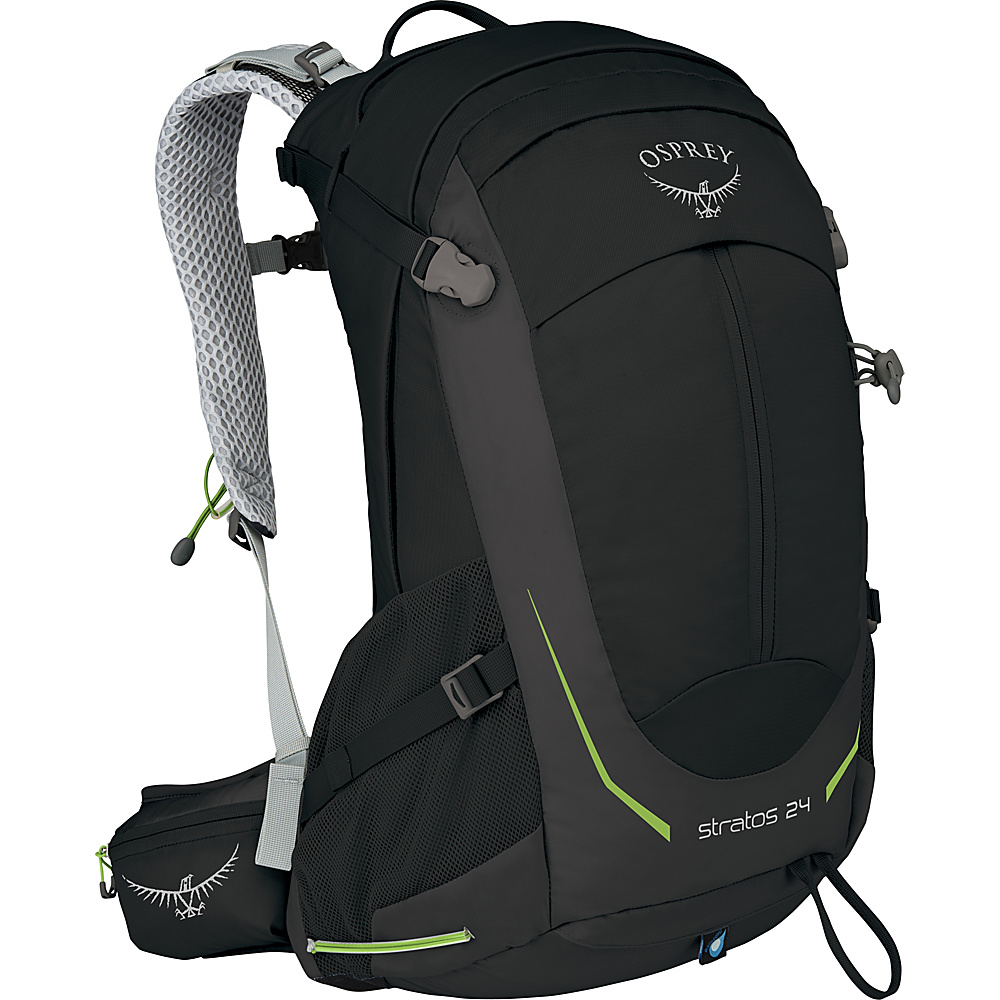 Osprey Stratos 24 Hiking Pack Black- DISCONTINUED - Osprey Day Hiking Backpacks - Outdoor, Day Hiking Backpacks