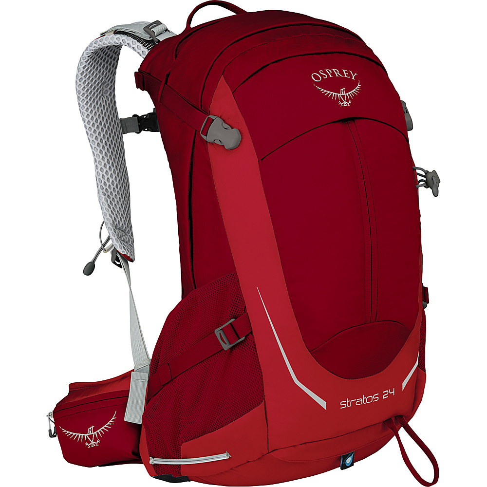 Osprey Stratos 24 Hiking Pack Beet Red - Osprey Day Hiking Backpacks - Outdoor, Day Hiking Backpacks