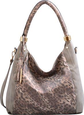 Mellow World Nova Hobo Grey - Mellow World Manmade Handbags