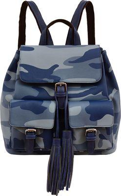 Mellow World Brandy Backpack Navy Blue - Mellow World Manmade Handbags