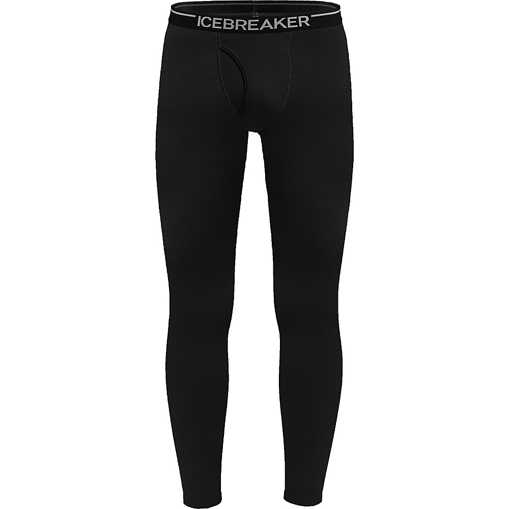 Icebreaker Mens Apex Leggings with Fly XXL - Black - Icebreaker Mens Apparel - Apparel & Footwear, Men's Apparel