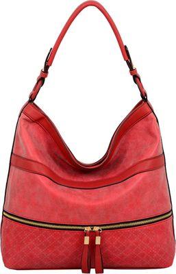 Mellow World Lynne Hobo Red - Mellow World Manmade Handbags