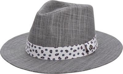 Ben Sherman Textured Linen Trilby L/XL - Platinum - Ben Sherman Hats