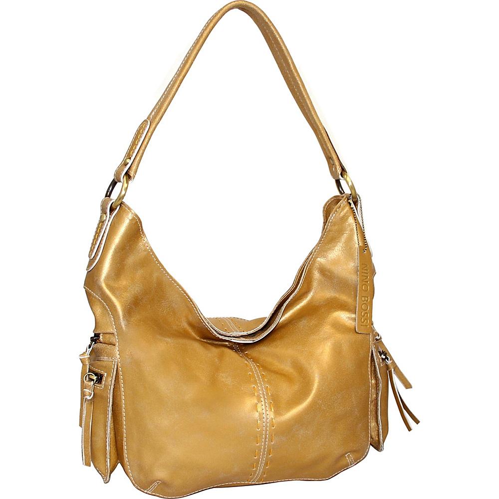Nino Bossi Cheri Shoulder Bag Gold - Nino Bossi Leather Handbags - Handbags, Leather Handbags