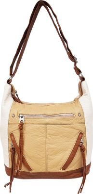 Bueno Pebble Washed Crossbody Ecru Natural Tan - Bueno Manmade Handbags