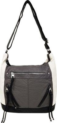 Bueno Pebble Washed Crossbody Ecru Ash Black - Bueno Manmade Handbags