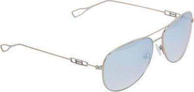 Elie Tahari Sunglasses Metal Aviator with Wire Temples Sunglasses Silver - Elie Tahari Sunglasses Eyewear