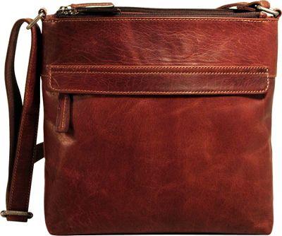 Jack Georges Voyager Zip Top Hobo Bag Brown - Jack Georges Leather Handbags