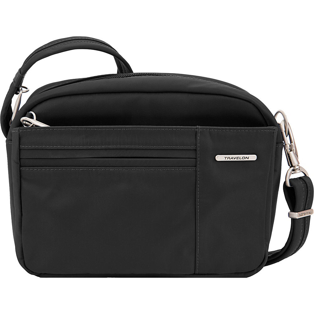 Travelon Anti-Theft Welted Small East/West Crossbody - Exclusive Black - Travelon Fabric Handbags - Handbags, Fabric Handbags