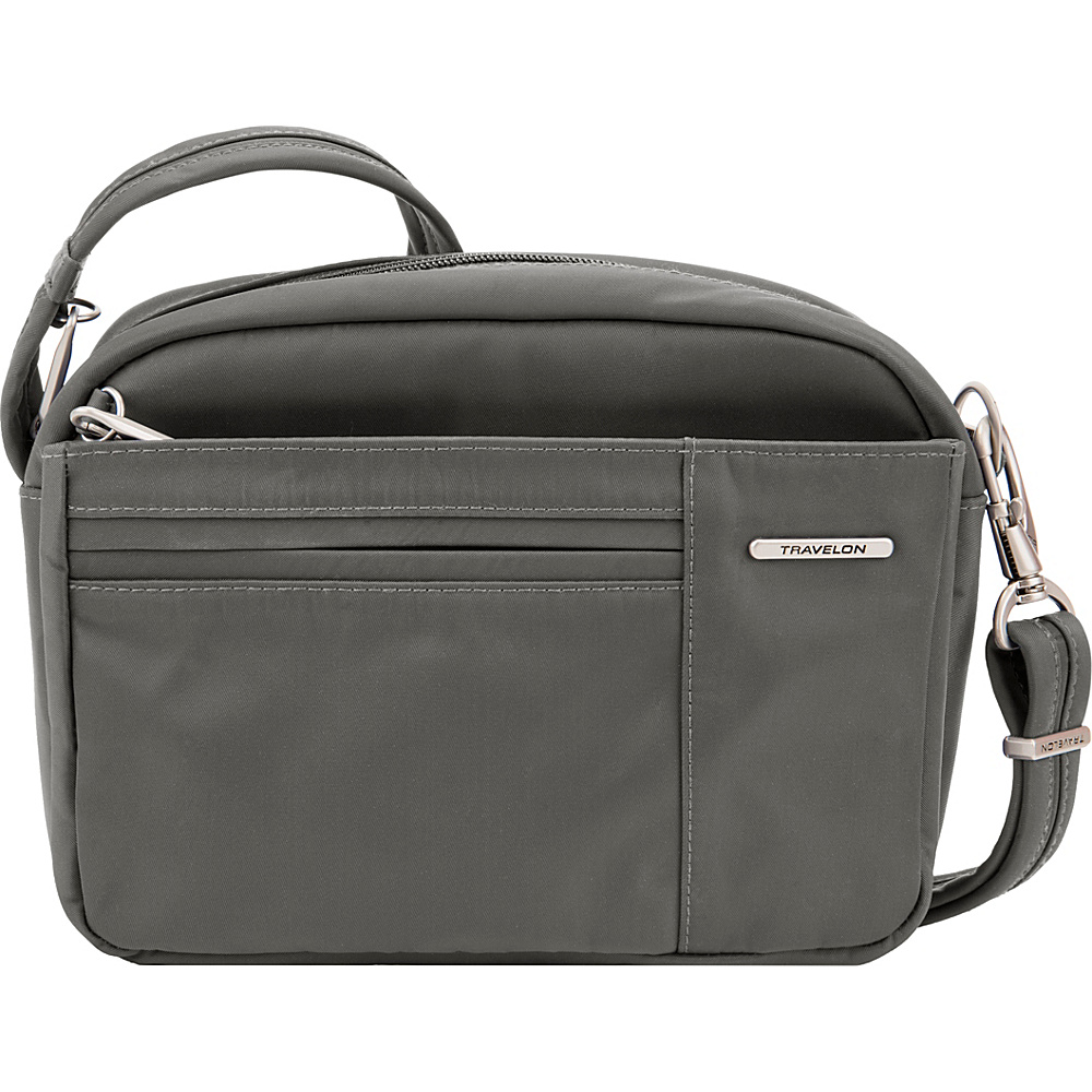 Travelon Anti-Theft Welted Small East/West Crossbody - Exclusive Gray - Travelon Fabric Handbags - Handbags, Fabric Handbags