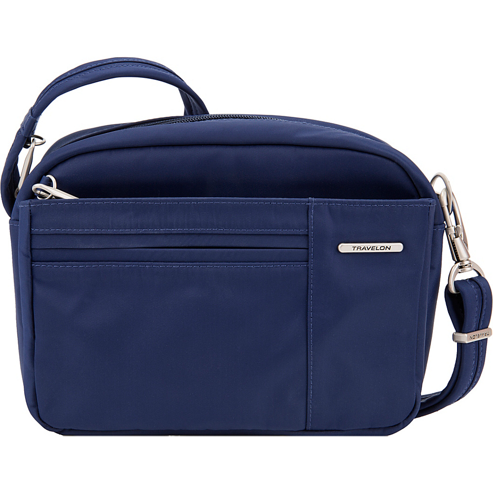 Travelon Anti-Theft Welted Small East/West Crossbody - Exclusive Navy - Travelon Fabric Handbags - Handbags, Fabric Handbags