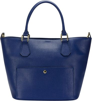 Lisa Minardi Convertible Top Handle Shoulder Bag Blue - Lisa Minardi Leather Handbags