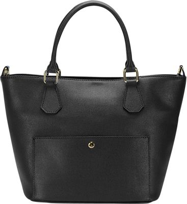 Lisa Minardi Convertible Top Handle Shoulder Bag Black - Lisa Minardi Leather Handbags