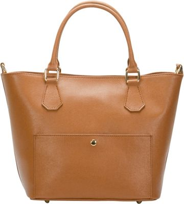 Lisa Minardi Convertible Top Handle Shoulder Bag Cognac - Lisa Minardi Leather Handbags