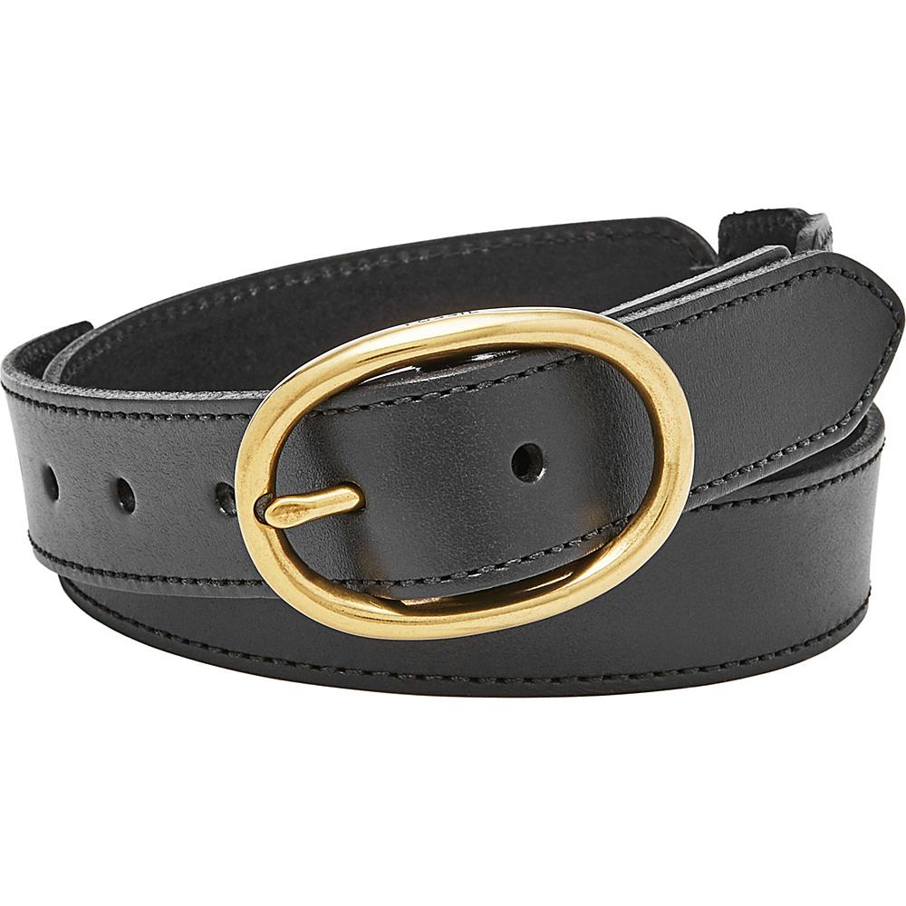 Fossil Leather Links Belt L - Black - Fossil Belts - Fashion Accessories, Belts