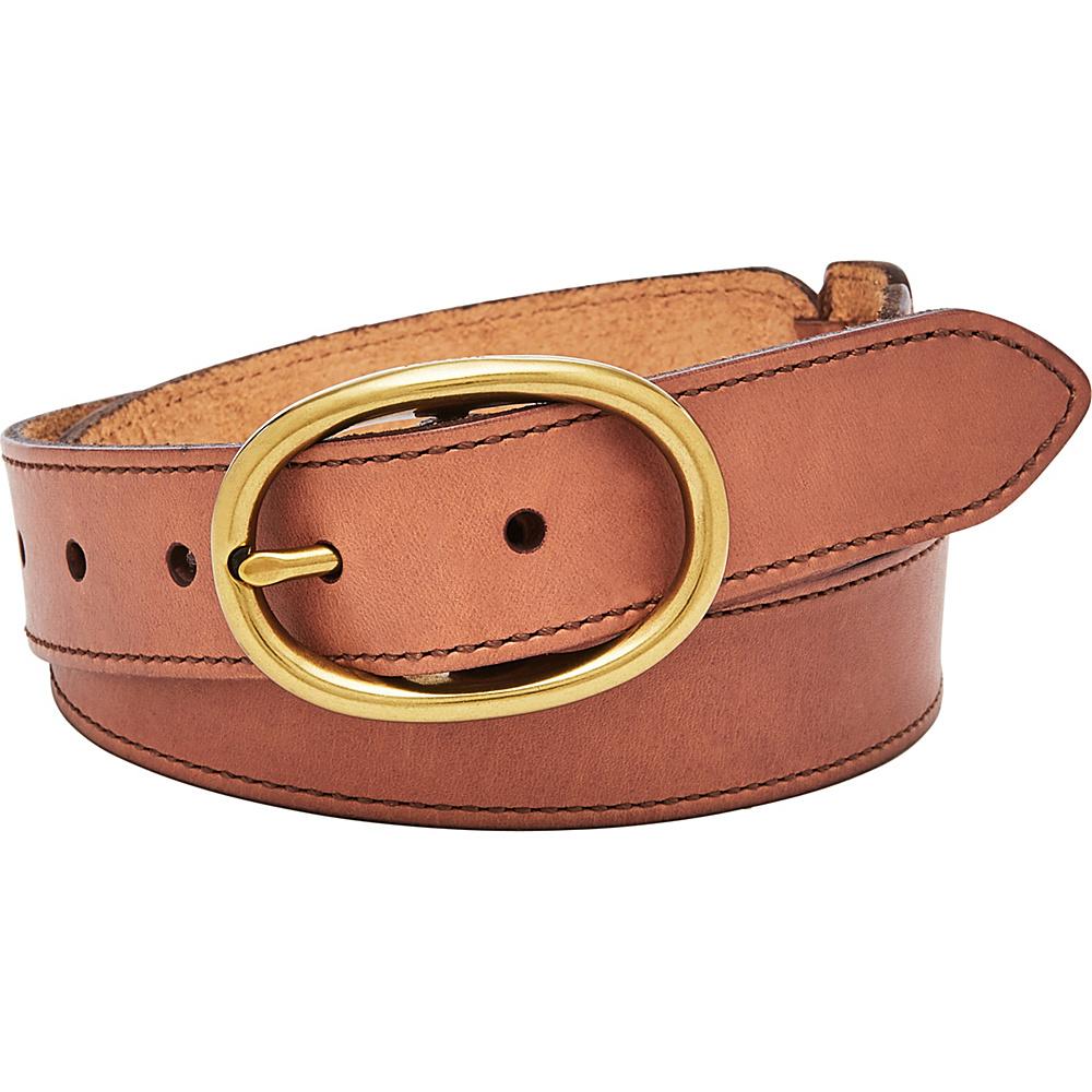 Fossil Leather Links Belt M - Tan - Fossil Belts - Fashion Accessories, Belts
