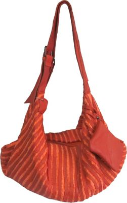 AmeriLeather Peranda Hobo-Hippie Multipurpose Bag Orange - AmeriLeather Leather Handbags