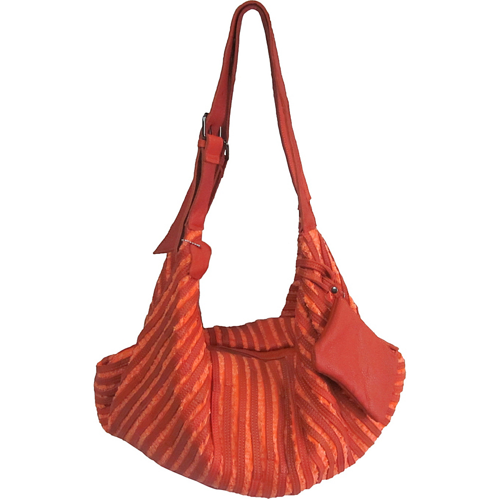 AmeriLeather Peranda Hobo-Hippie Multipurpose Bag Orange - AmeriLeather Leather Handbags - Handbags, Leather Handbags