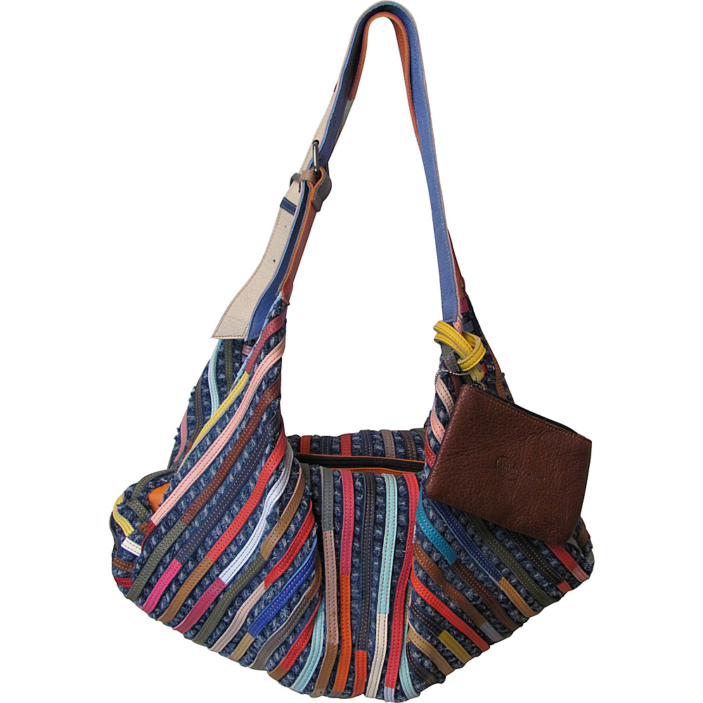 AmeriLeather Peranda Hobo-Hippie Multipurpose Bag Rainbow - AmeriLeather Leather Handbags - Handbags, Leather Handbags