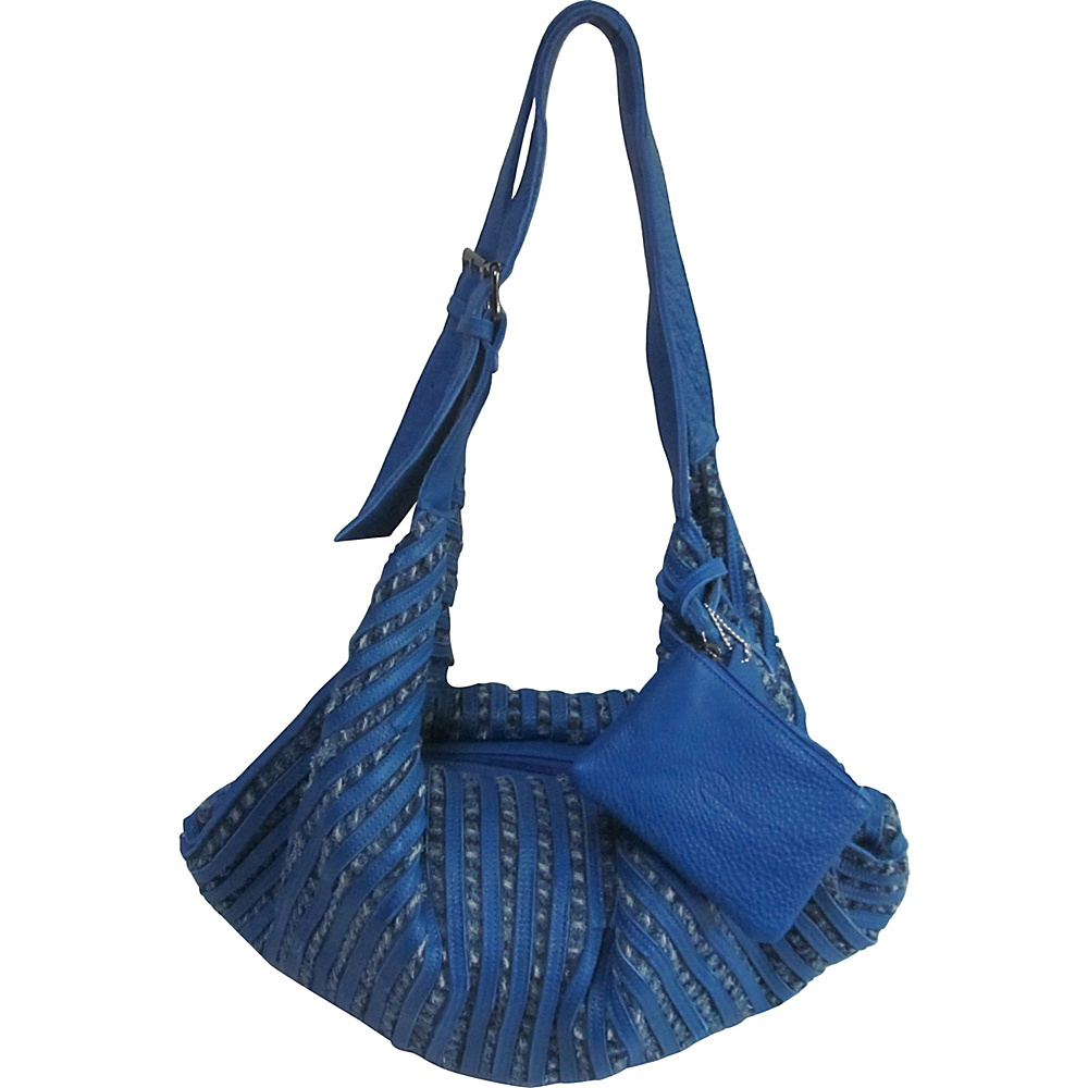 AmeriLeather Peranda Hobo-Hippie Multipurpose Bag Royal Blue - AmeriLeather Leather Handbags - Handbags, Leather Handbags