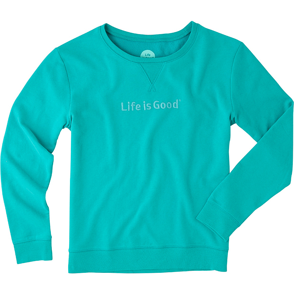 Life is good Womens Go-To Crew LIG S - Bright Teal - Life is good Womens Apparel - Apparel & Footwear, Women's Apparel