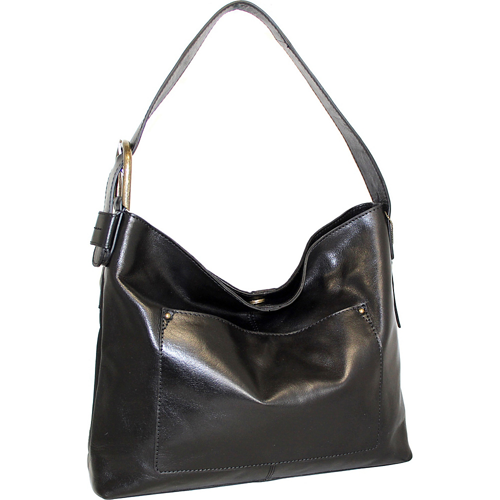 Nino Bossi Ursula Leather Hobo Black - Nino Bossi Leather Handbags - Handbags, Leather Handbags