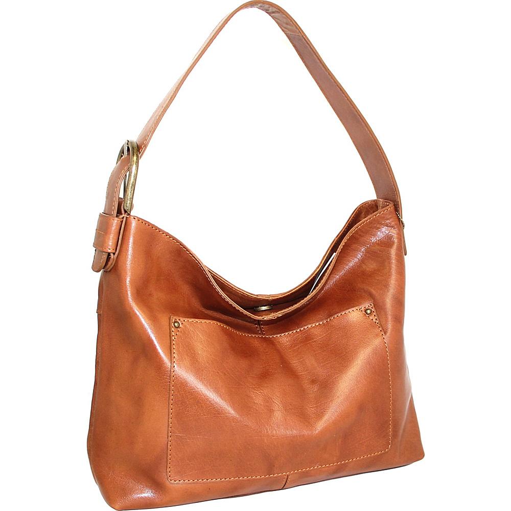 Nino Bossi Ursula Leather Hobo Cognac - Nino Bossi Leather Handbags - Handbags, Leather Handbags