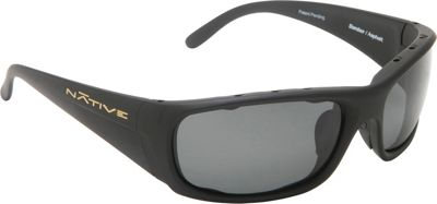 Native Eyewear Bomber Sunglasses Matte Black with Polarized Gray - Native Eyewear Eyewear